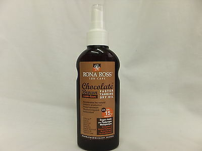 Rona Ross Chocolate Brown Faster Tanning Dry Oil  SPF 15 (160ml) EXPRESS P&P