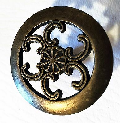 Brass Bronze Antique Hardware Mid Century Modern Drawer Pull Cabinet Knob