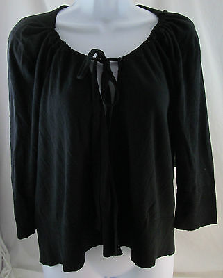 Duo Maternity, Large, Black Tie Cardigan, New with Tags
