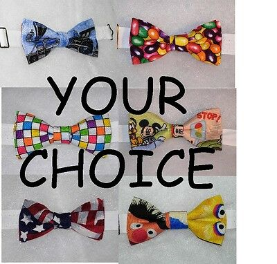 (1) INFANT SIZE PRE-TIED BOW TIE - (ages newborn - 2) YOUR CHOICE OF FABRIC