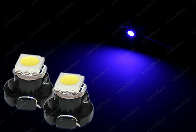 2x LED T4.2 Neo Wedge 1-1210 HID Blue Dashboard Cluster Speedo Instrument Bulbs