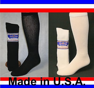 Men's Women Over the Calf Cushioned Diabetic Socks Sizes 3, 6 or 12 Pair