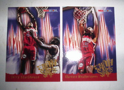 Superbe Lot 2 Cartes Basket Nba Hoops 1996 Earth Shakers