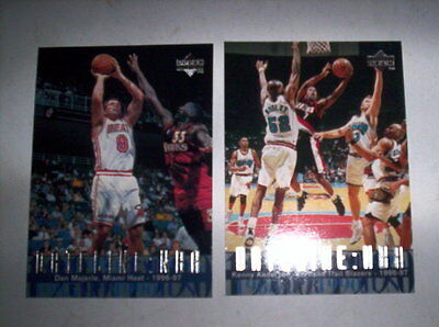 Superbe Lot 2 Cartes Basket Nba Upper Deck 1997 Dateline