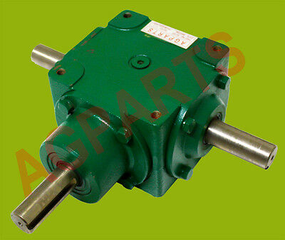"Heavy Duty Cast Iron ""t"" Gearbox  1:1 Ratio  1"" Shafts  Approx 15Hp Applications"