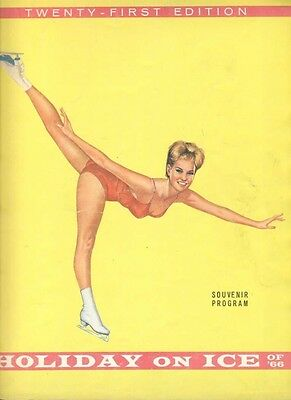 Programme Holiday On Ice Full Of Images 1966