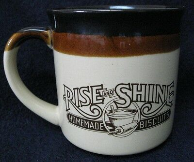 vintage Hardees RISE and SHINE coffee cup mug 1986 homemade biscuits breakfast