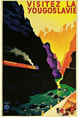 1938 Yugoslavia Art Travel Europe European Advertisement Vintage Poster Print