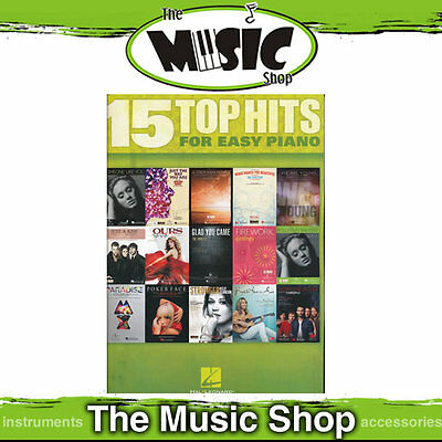 """New """"15 Top Hits for Easy Piano"""" - Music Book"""