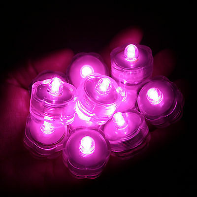 Wedding Centerpieces With Submersible Lights : LED SUBMERSIBLE TEA LIGHT Waterproof Floral Decor Wedding centerpiece ...