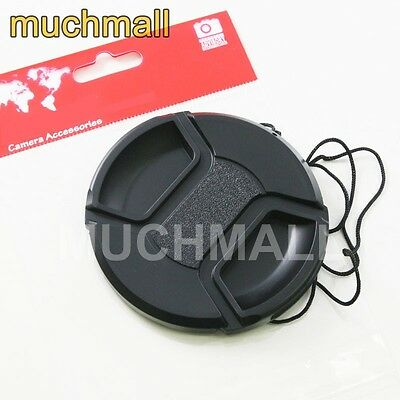 55mm 55 mm Center Pinch Snap On Front Lens Cap Cover for Canon Nikon Sony camera