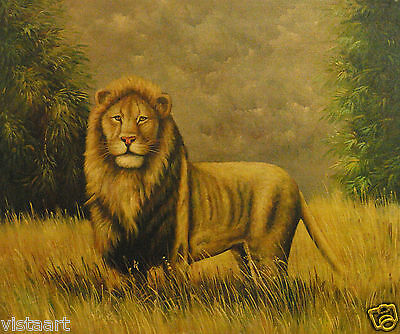 """Oil Painting On Stretched Canvas 20""""x 24""""- Majestic Lion"""