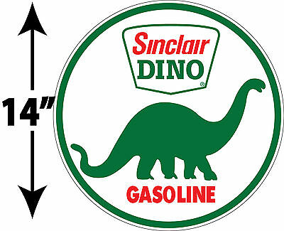 Large Super High Gloss Outdoor 14 Inch Sinclair Dino Gasoline Decal Sticker