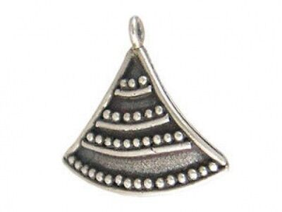 DH11 - Lovely Unique Lightly Oxidized Sterling Silver Dangle Charm - 1