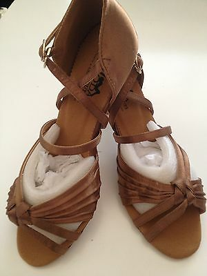 Latin Dance Shoes Brand New  TAN COLOUR