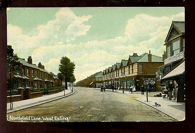 Middlesex WEST EALING Northfield Lane 1910 PPC