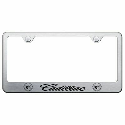 New Cadillac Brushed Chrome Stainless Steel License Plate Frame