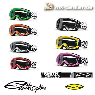 Smith V1 Crossbrille Cross Motocross Brille MX Enduro Quad MTB BMX schwarz grün