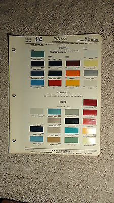 Ditzler Paint Chip Charts - 1967 Commercial Colors