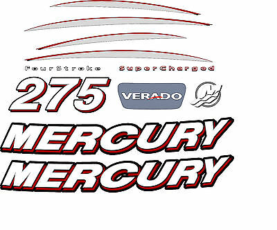 Mercury Outboard VERADO decal set 275 hp, complete kit
