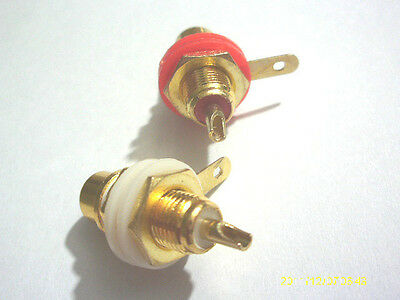 10 pcs Gold Plated RCA Jack Panel Mount Chassis Socket connector