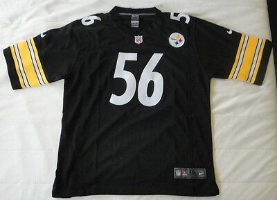 Pittsburgh Steelers LaMarr Woodley Official NFL Nike Home Jersey Black