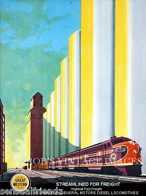 Chicago Northwestern CNW  Chicago Great Western CGW Railroad train Poster