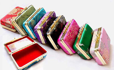Wholesale8pcs Chinese Classic Handmade Silk Double Lipstick&Jewelry Mirror Box