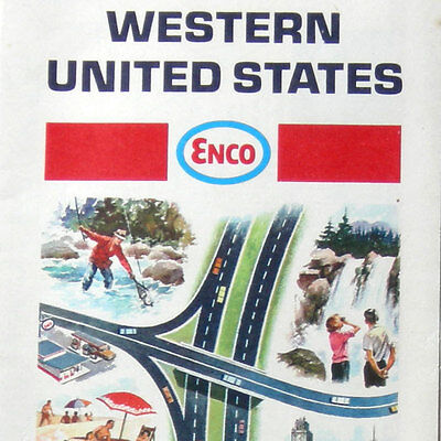 VTG Enco Western United States Map road/travel guide Sightseeing happy motoring