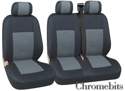 Citroen Dispatch Relay Seat Covers Grey Black Fabric For 2+1   New