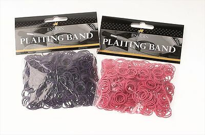 Lincoln Plaiting Bands - Horse & Pony Grooming - Purple