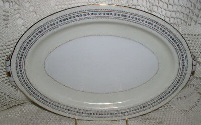 """Holly China Narumi Laurel Oval Serving Platter Plate Occupied Japan 12-7/8"""""""