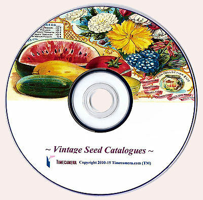 ANTIQUE SEED CATALOGUE COVERS Beautiful Restored Images CD