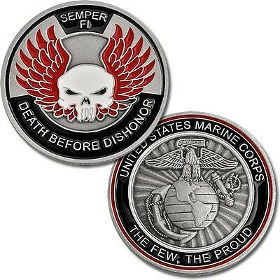 USMC Death Before Dishonor Challenge Coin United States Marine Corps Semper Fi