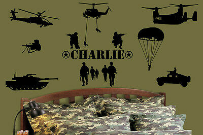 Army Marines Military Soldiers Vinyl Wall Removable decal decals sticker 0009