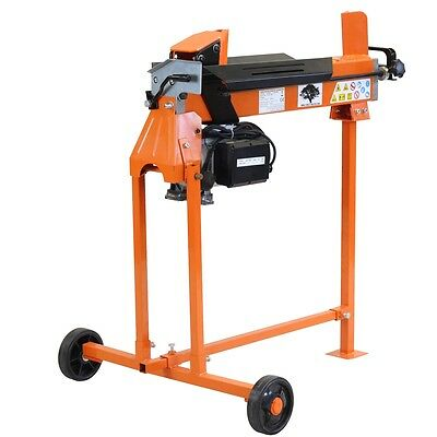 Electric 5 Ton Log Splitter Hydraulic Wood Cutter Kindling Axe Stand & Duoblade