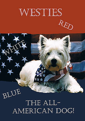 Westie Red White& Blue Garden Flag Free Ship Usa Rescue