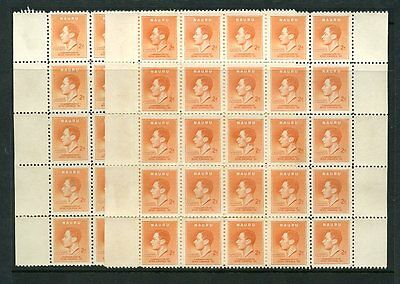 NAURU 1937 CORONATION 2d...112 stamps MINT UNUSED...SG41...cv £168