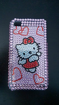 Hello Kitty Bling Crystal Diamond RhineStone Back Case for Iphone 4 4S P-Angel