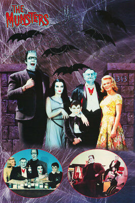 Poster :tv: Munsters - Family Collage -   Free Shipping ! #3207 Lp59 O