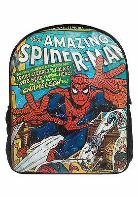 Retro Marvel Comics Spider-Man Large Backpack School Office Holiday Brand New