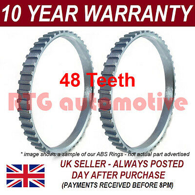 2X For Volvo V70 Mk2 Mk3 48 Tooth 71.9Mm Abs Reluctor Ring Cv Joint Ar0502