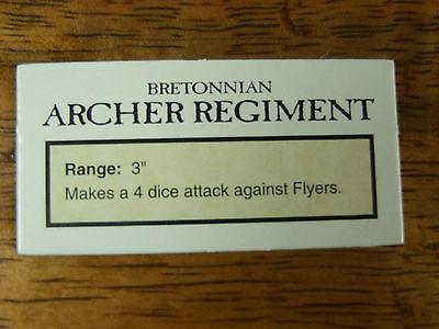 Oop Man O War Bretonnian Archer Regiment Data Card Token (1011)