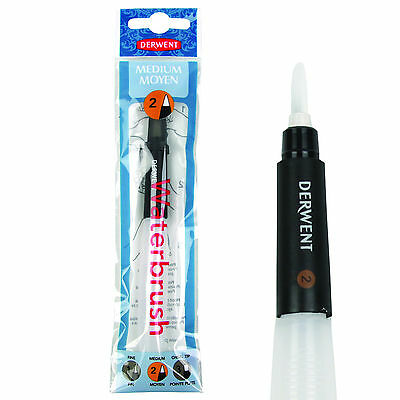 Derwent Waterbrush Medium Tip - Artists Water Colour Painting Brush