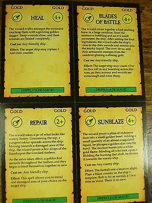 4 Oop Man O War Gold Magic Cards (944)