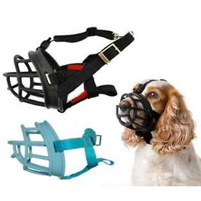 Baskerville Adjustable Plastic Basket Style Training Ultra Muzzle Chew Control