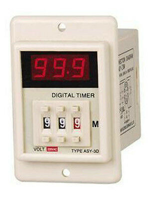 AC 110V Power ON Delay Timer Time Relay 1-999 Minute