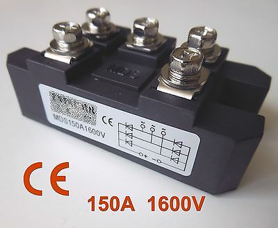 MDS150A 3-Phase Diode Bridge Rectifier 150A Amp 1600V CE Certification