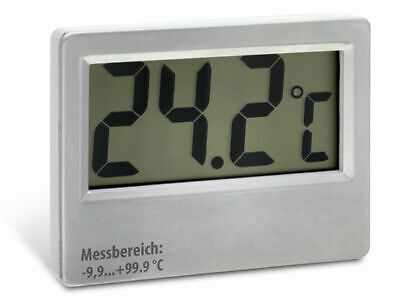 Thermometer groß Jumbo-Display bis 100°C Kabel: 5m digital Kesselthermometer LCD