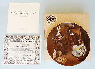 "NORMAN ROCKWELL 1984 KNOWLES PLATE #A2817 ~ ""THE STORYTELLER"" ~ 8.5-inch dia"